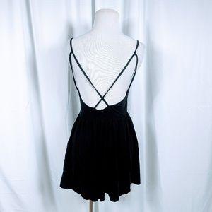 Zara Pants - Zara Trafaluc Black Open Back Romper
